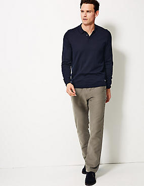 Pure Cotton Regular Fit Moleskin Trousers, MOLE, catlanding