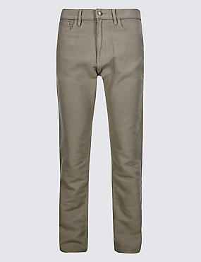 Big & Tall Pure Cotton Jean Style Trousers