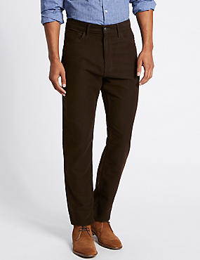 Pure Cotton Regular Fit Moleskin Trousers