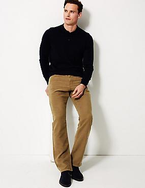 Italian Moleskin Regular Fit 5 Pocket Trousers, MOLE, catlanding