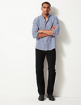 Italian Moleskin Regular Fit 5 Pocket Trousers, BLACK, catlanding