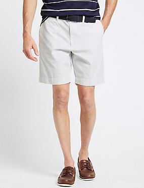 Pure Cotton Striped Shorts, WHITE MIX, catlanding
