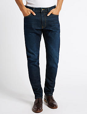 Slim Fit Washed Jeans