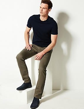 Slim Fit Stretch 5 Pocket Jeans, HAZELNUT, catlanding