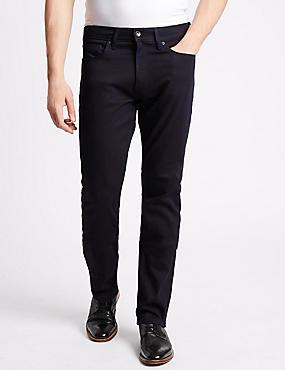 Slim Fit Stretch Jeans, BLUE/BLACK, catlanding