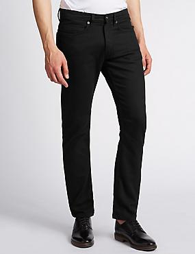 Slim Fit Stretch Jeans, BLACK, catlanding