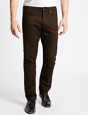 Slim Fit Stretch Jeans, BROWN, catlanding