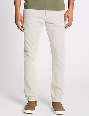 Slim Fit Stretch Jeans, NATURAL, catlanding