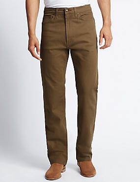Mens Brown Jeans | Buy Dark, Tan, & Light Jeans Online | M&S