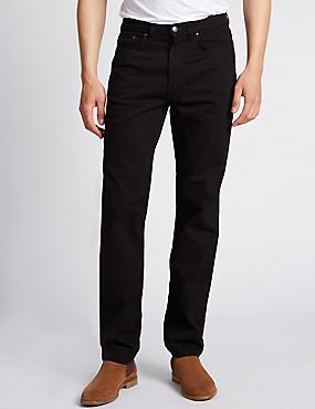 Regular Fit Stretch StayNew™ Jeans, BLACK, catlanding