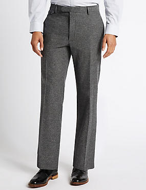 Pure Cotton Tailored Fit Trousers