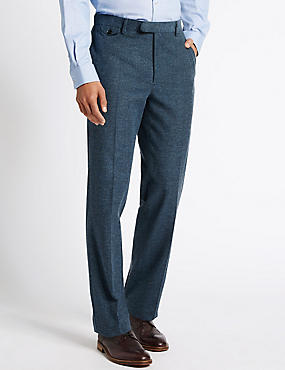 Pure Cotton Tailored Fit Trousers with Buttonsafe™
