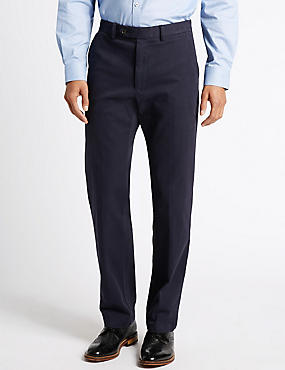 Cotton Rich Tailored Fit Chinos with Buttonsafe™