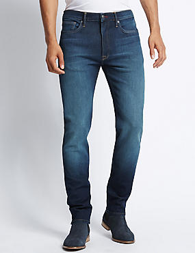 Tapered Fit 4-Way Stretch Jeans