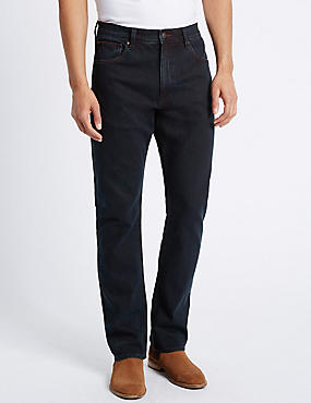 Regular Fit Stretch Jeans, BLUE/BLACK, catlanding