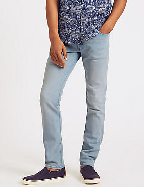 Skinny Fit Jeans, PALE BLUE, catlanding