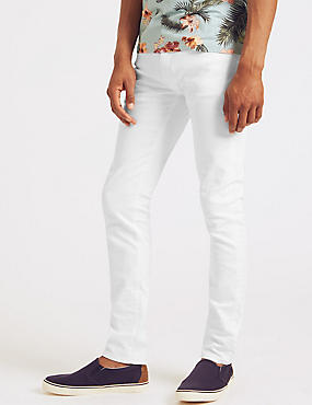 Skinny Fit Jeans, WHITE MIX, catlanding