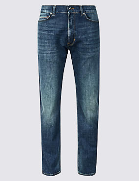 Tapered Fit Jeans with Stretch, TINT, catlanding