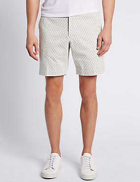 Pure Cotton Tailored Fit Print Shorts