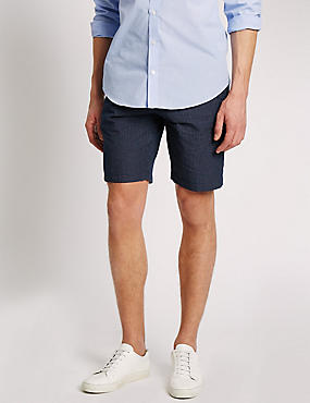 Pure Cotton Grid Checked Shorts