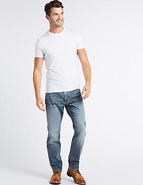 Sustainable Stay Fresh Stretch Jeans, MEDIUM BLUE MIX, catlanding