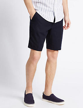 Linen Rich Shorts with Pocket