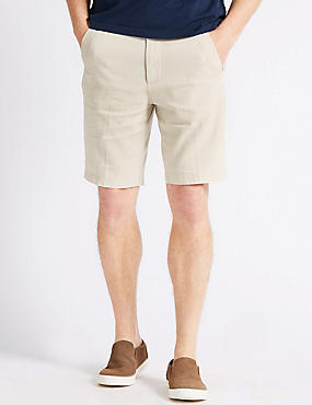 Linen Rich Shorts, LIGHT STONE, catlanding