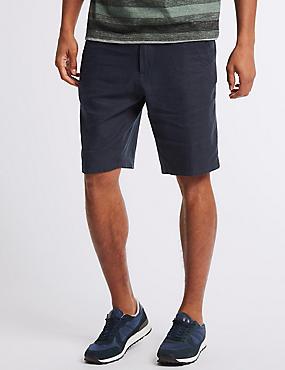 Linen Rich Shorts, NAVY, catlanding