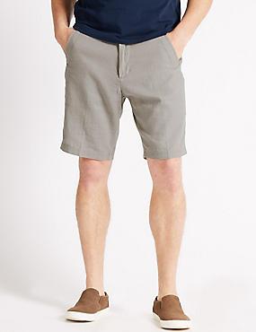 Linen Rich Shorts, GREY, catlanding