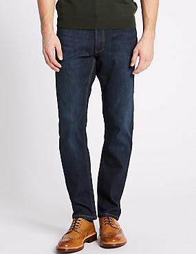 Luxury Performance Slim Fit Jeans, DARK INDIGO, catlanding