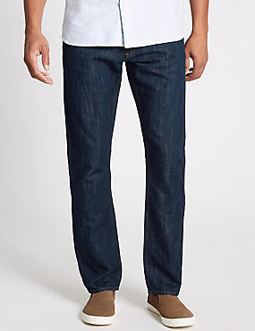 Cotton Linen Straight Fit Jeans
