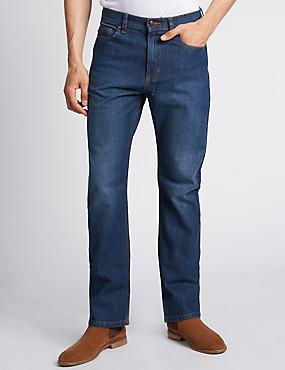 Regular Fit Stretch Jeans, MEDIUM BLUE, catlanding