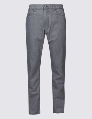 Grey Regular Fit Stretch Jeans Outfit