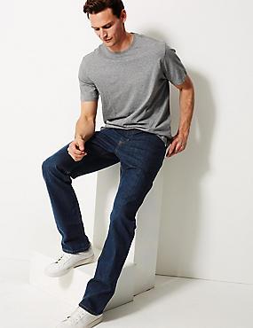 Regular Fit Stretch Jeans, INDIGO, catlanding