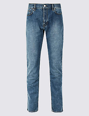 Slim Fit Stretch Jeans, LIGHT DENIM, catlanding