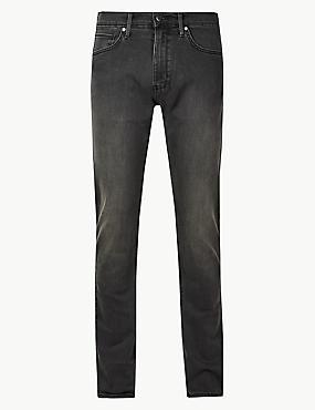 Slim Fit Stretch Jeans, GREY, catlanding