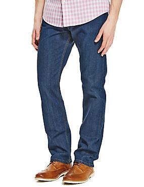Big & Tall Regular Fit Stretch Jeans, MEDIUM BLUE, catlanding
