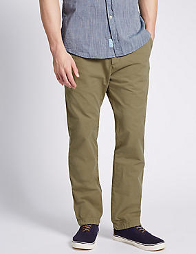 Pure Cotton Straight Fit Chinos