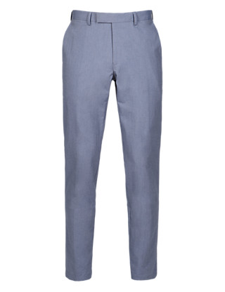 Luxury Pure Cotton Slim Fit Chambray Chinos Clothing