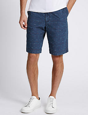 Pure Cotton Dash Design Shorts