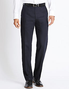 Pure Wool Supercrease™ Flat Front Trousers