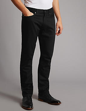 Slim Fit Jeans, BLACK, catlanding