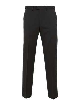 Active Waistband Supercrease® Flat Front Trousers with Wool Clothing
