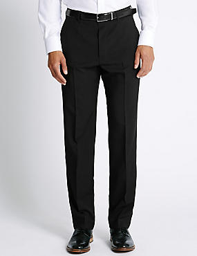 Big & Tall Flat Front Trousers