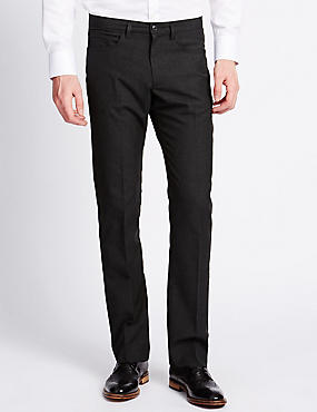 Slim Fit 5 Pocket Flat Front Trousers