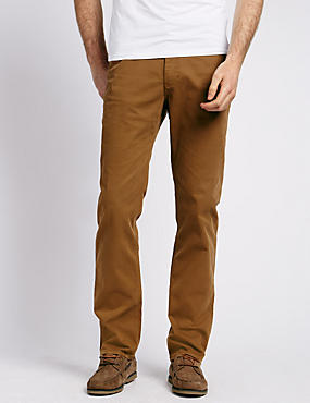 Cotton Rich Jean Style Trousers