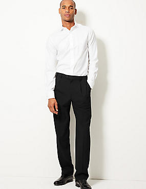 Twin Pleat Regular Fit Trousers