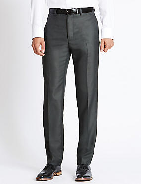 Supercrease™ Flat Front Trousers with Buttonsafe™