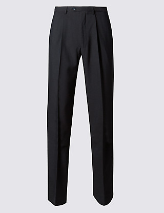 Single Pleat Trousers Clothing