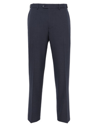 Crease Resistant Flat Front Trousers Clothing